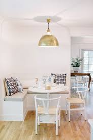 modern neutral-colored breakfast nook