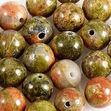 Купить <b>Бусина унакит</b> ЮАР <b>шарик</b> 6-6,<b>5</b> мм (1 шт) Доставка по ...