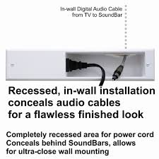 sound bar wall wiring solution