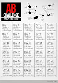 printable 30 day challenges 30 day ab challenge