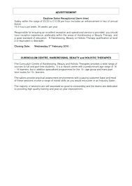 Beauty Therapy Cover Letter Physical Therapy Resume And Salary