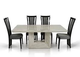 Marble Kitchen Table For Beautiful Marble Top Dining Table And Modern Chandleholders Add