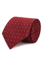 Мужской красный <b>шелковый галстук HUGO</b> — купить за 5300 руб ...