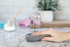 how to clean marble countertops with