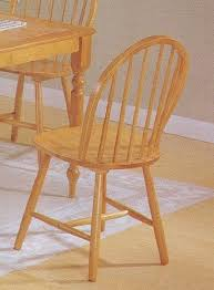 Amazoncom  Set Of 4 Oak Finish Windsor Country Style Wood Dining Country Style Chairs
