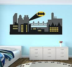 city skyline wall decals wall your own wall art stickers new city wall decal batman gotham
