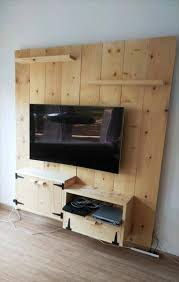 re gained wooden media wall
