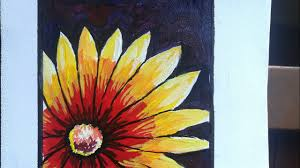 poster color flower painting in a simple method beautiful flower painting