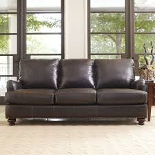 Leather Couch Living Room Montgomery Leather Sofa Reviews Birch Lane