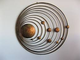copper antique 24 inches round metal