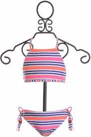 Snapper Rock Size Chart Snapperrock Neon Stripe Girls Bikini Size 4