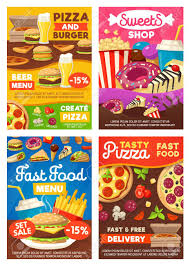 Desserts delivery from local favourites in bangkok check restaurant's menu online foodpanda will deliver it to your home or office download free ios / android app. Fast Food Sweet Desserts Snacks Or Drinks And Meals Vector Royalty Free Cliparts Vectors And Stock Illustration Image 115208667