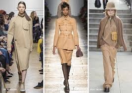fall winter 2017 2018 color trends 70s camel
