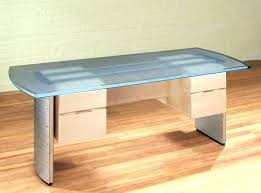 contemporary glass office. Glass Top Office Desk Small  . Contemporary