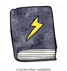 cartoon magic spell book csp22808416