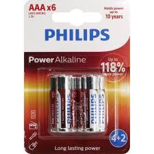 <b>Батарейки AAA PHILIPS</b> Power Alkaline <b>LR03P6BP</b> / <b>10</b> 6 шт ...