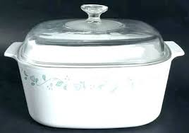 corning country cottage 5 quart square casserole with glass lid serving bowls lids friendly microwave