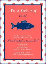 Printable Custom Preppy Fish Fry Invitation Birthday Baby