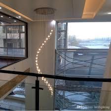 modern stairwell lighting. Stairwell Lighting Fixtures Led Indoor Stair Crystal Chandelier Long Modern Staircase Dining Room S