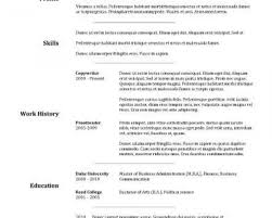 Free Resume Builder Resumes With Picture For College