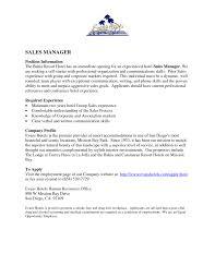 General Manager Resume Resumess Memberpro Co Best Hotel Sales