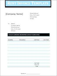 Rent Invoice Sample Extraordinary Monthly Rent Receipt Template Thepatheticco