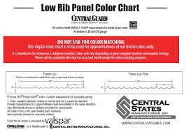 Central States Metal Roofing Color Chart Rare Central States Panel Loc Plus 2019