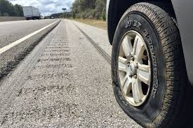 flat tire.  Flat Flat Tire Dangers Intended