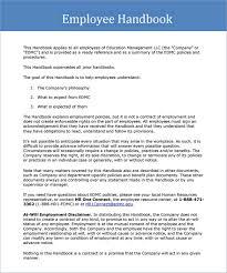 Free Employee Handbook Template Shatterlion Info
