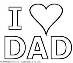 Small Picture Fathers Day Coloring Pages I Heart Dad Coloring Page SOS