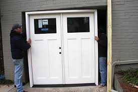 for this project we were able to position the new door and build the rough opening