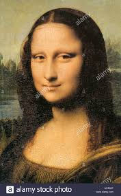close up of mona lisa a painting by leonardo da vinci