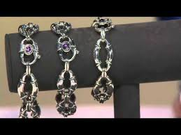 scott kay bolo link sterling gemstone bracelet on qvc