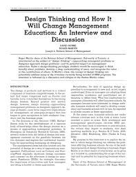 Roger Martin Design Pdf Design Thinking And How It Will Change Management