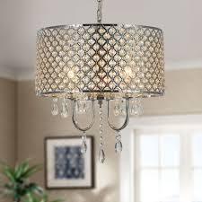 4 light modern crystal iron chandelier dk rl5633
