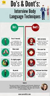 Interview Tips Body Language Tips For Job Interviews INFOGRAPHIC CareerBliss 2