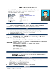 Cv In 2016 Latest Resume Templates On Best Samples Cv Format