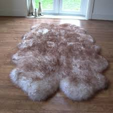 quad sheepskin rug