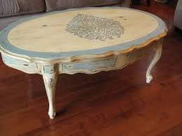 french provincial coffee table painted
