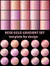 Set of rose gold gradients for fashion ...