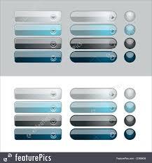Templates Web Glossy Button Set Stock Illustration I2369436 At
