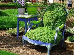 garden decorations ideas. 18 Creative Garden Ideas For Used Furniture As Decorations