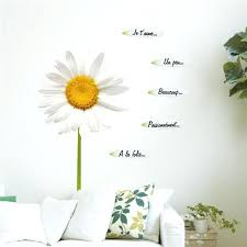 daisy wall art removable simulation daisy wall stickers flowers home decor art wall decals high quality daisy wall art