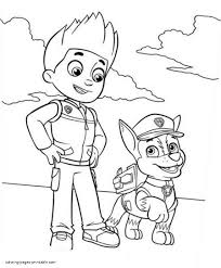Coloring Pages Pawatrol Coloringagesdf Ryder With Chase Inside