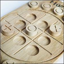 Wooden Naughts And Crosses Game Oak Noughts and Crosses Game 8