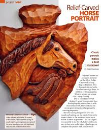 Relief Carving Patterns Magnificent Horse Portrait Relief Carving Patterns WoodArchivist