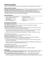 Manufacturing Production Resume Objective Planning And Control