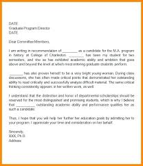 Graduate School Recommendation Letter Sample Impression Of