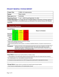 Project Daily Status Report Template Excel And Create Weekly Project
