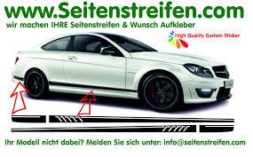 Benz AMG C63 Coupe 507 Replica Side Stripes Decal Sticker Set N° 5944